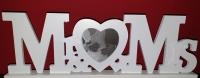 Mr & Mrs Schriftzug m. herzförmigen Bilderrahmen Hochzeit