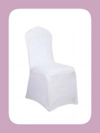 Stuhlhusse Stretch-Husse in weiß, 3 Größen Hochzeit Vintage