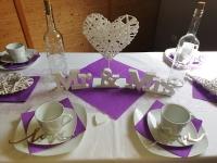 Weidenherz auf Ständer Vintage Deko Hochzeit HerzaufstellerTischdeko