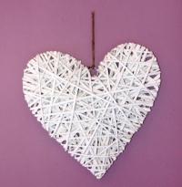 XXL weißes Deko-Herz zum Aufhängen Hochzeitsdeko Vintage