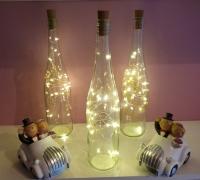 Deko LED-Weinflasche Vintage Menükartenflasche Dekoflasche
