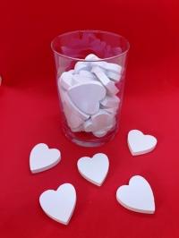 Herzen weiß Tischdeko Streuartikel Hochzeitsdeko Vintage