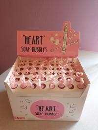 Seifenblasen Röhrchen Pink mit Herz Wedding Bubbles
