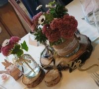 Deko Untersetzer 9,5-11,5 cm Vintage Hochzeit Tischdeko